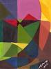 Una Maschera nello Spazio #05 - Artist: Leon 47 ( Leon XLVII ) (leon 47) Tags: leon 47 xlvii maschera mask spazio space abstract painting metaphysical metafisica metaphysics enigma surrealism surrealismo triangulism art triangolismo arte astratta windows finestre minimalism minimalismo