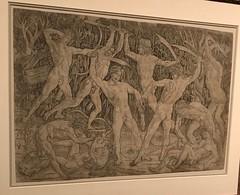 Battle of the naked men_Antonio Pollaiuolo (Italian, Florence ca. 1432–1498 Rome)_ca. 1470–90_Engraving (Hiero_C) Tags: renaissance newyork metropolitanmuseum drawing
