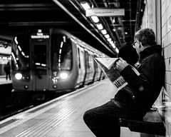 """Ah - my train."" (Peter Murrell) Tags: moorgate londontransport londonstreetphotography tube transport travel"