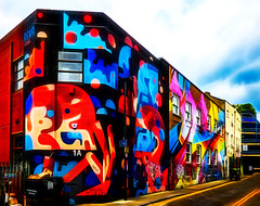 Razzle Dazzle (Steve Taylor (Photography)) Tags: art digital graffiti mural streetart tag building colourful contrast paint uk gb england greatbritain unitedkingdom london shape 1a chancestreet dazzlecamouflage razzledazzle dazzlepainting