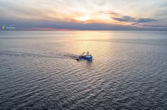 LN474 Georgie Fisher shrimping boat (Gary Pearson Photography) Tags: georgie fisher ln474 shrimping shrimp boat fishing norfolk hunstanton king's lynn wash sunset sea tide calm tranquil dji phantom 4 pro plus