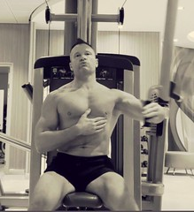 pec deck (ddman_70) Tags: shirtless pecs muscle gym workout chest