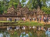 Banteay Srei, Siem Reap Region, Cambodia (deborahb0cch1) Tags: cambodia banteaysrei siemreap people tourists travel trip destination journey pond water jungle trees lush nature holidays sun bright colourful colorful temple sacred buddhist holy