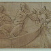 PRIMATICE - Triptyque, Trois Hommes, un Mulet et un Âne auprès d'un Chargement  (drawing, dessin, disegno-Louvre INV8575-INV8576-INV8574) - 0