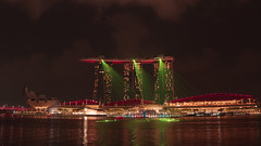 Symphony of lasers and music (elenaleong) Tags: spectralightsandlaser marinabaysands waterfront lightsandwatershow elenaleong singaporeattraction singaporelandmark nightscape laserlights