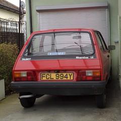 ϪϠϡ (uk_senator) Tags: 1982 talbot samba le red