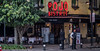 2018 - Mexico City - Rojo Bistrot (Ted's photos - Returns Early June) Tags: 2018 cdmx cityofmexico cropped mexico mexicocity nikon nikond750 nikonfx tedmcgrath tedsphotos tedsphotosmexico vignetting rojo rojobistrot sign bollards streetscene st tables tablesetting chairs curb men males neonsign cervezamodelo wideangle people peopleandpaths