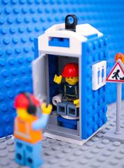 SHUT THAT DOOR!!!!! (Emma Dorber) Tags: 2018weeklyalphabetchallenge canoneos400d oisforoccupied lego toilet tabletop