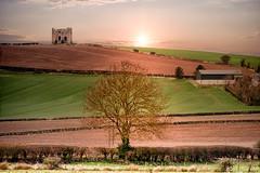 Burt Castle (mickreynolds) Tags: 2018 april2018 donegal nx500 burt castle wildatlanticway tree fields hills sunset ireland april 200mm ulster