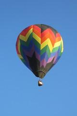 Aloft (Patricia Henschen) Tags: balloonliftoff balloonclassic hotairballoon prospect lake memorialpark park prospectlake colorado coloradosprings downtown laborday labordayliftoff balloon balloons morning dawn