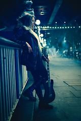 Late night blues (Pawel Kozera) Tags: girl beauty young pretty portrait portraiture london photography slim fashion cute street city people portraits streetphotographybeautiful longhair citylife stylish modern portraitphotography nikon 50mm bokeh headshot natural guitar rock blues night midnight