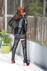 Spring in leather.. (Lady Sultry) Tags: sultry ladysultry sultryleather ladysultrycom leather latex leder lack boots thighboots thighhighboots heels highheels milf leathermilf milfmistress bootedmilf milfinboots goddessmistress gilf mistress domina dominatrix bdsm goddess therealladysultry ladysultrylasvegas prodomme femdom kingdom alternativelifetsyle fetish bootfetish leatherfetish woman womenincharge reena laureena jorrdan lasvegas leathershorts femdomfetish leatherdomination fetishmilf longnails paintednails leathersex nails rednailfetish nailfetish daytonabeach bosslady bossdomina sexinheels
