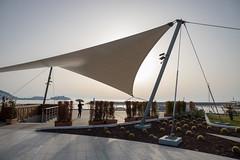 Evening sun shade (mfatic) Tags: shade parasol sail triangle silhouette asiaminor geometric kuşadası aydın turkey tr