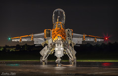 Spotty, after dark (Nimbus20) Tags: jaguar spotty shropshire plane jet fighter groundattack rollsroyce adour sepecat fast night lights