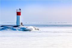 Frozen Lake (soupie1441) Tags: port stanley ontario canada frozen lake winter white red marker ice blue nikon d7200 tamron 2470mm