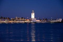 EL FARO DE MÁLAGA  ( EXPLORE ) (marthinotf) Tags: faro malaga andalucia españa marmediterraneo costadelsol anochecer luz guiadelmar puerto puertodemalaga paseomarítimo luzartificial iluminación