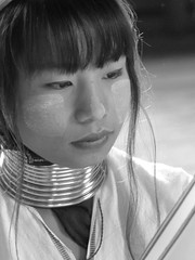 P1250169 (ian_harbour) Tags: myanmar burma monochrome bw blackandwhite karen weaver weaving portrait people longneck neck