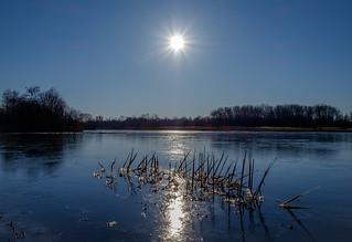 Sunrise on thin ice