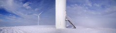 ...a Stairway...to Heaven ! (GEORGE TSIMTSIMIS) Tags: snow cold mountain stairwaytoheaven stairs windmill sky clouds blue white pentaxk1 fullframe pentaxhddfa2470mmf28edsdmwr explore adventure