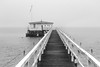 boathouse (GeoMatthis) Tags: blackandwhite black blackwhite gray fog clouds rain winter seaside baltic sea water architecture sailing deutschland seascape sky white city house