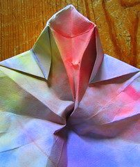 Handmade Paper Lantern - Waldorf Inspired (Pictures by Ann) Tags: handmade lantern watercolor paper waldorf diy pattern tealight folded folding origami tabledecoration decor decoration craft art project