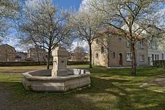 A l'ombre de la place du Bas de Montsort (Tonton Gilles) Tags: alençon normandie place du bas de montsort fontaine square arbres en fleurs printemps ombres hdr