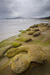 Erosion (LadyBMerritt) Tags: ocean rocks beach sand water newport nyebeach oregon