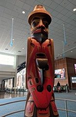 The Blind Halibut Fisherman and the Raven with the Broken Beak (jmaxtours) Tags: regdavidsonartist theblindhalibutfishermanandravenwithabrokenbeak haida haidamyth yvr vancouverairport airport vancouver vancouverbc bc britishcolumbia vancouverbritishcolumbia