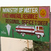 Painted bilboard advertisement for the ministry of water and mineral resource, Togdheer region, Burao, Somaliland