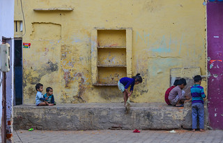 Children playing on street