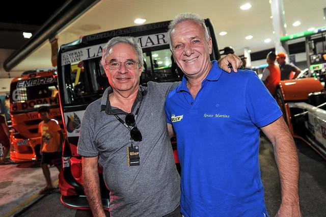 Carlos Col e Renato Martins - Foto: Duda Bairros/Copa Truck