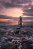 La Luz que ilumina tu camino (Caramad) Tags: agua longexposure sanvicentedelabarquera landscape bocana cantabria espigon marcantábrico sunrise seascape amanecer faro rocas rocks