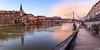 La passerelle Saint-Georges sur la Saône à Lyon (imaginamateur) Tags: coucherdesoleil rhône lyon passerellesaintgeorgeslyon saône panorama