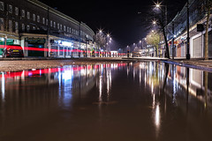Parallel universe (Paul Wrights Reserved) Tags: streetphotography street streetlights londonstreets light lightburst lighttrails reflection reflections building buildings shops shop shopping puddle puddlephotography longexposure