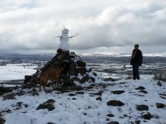 The Cairn (simonov) Tags: reno winter snow mountains virginiarange bella dog hund chien 狗 σκύλοσ madra cane 犬 perro 개 سگ собака الكلب germansheprador snowman woman ingrid