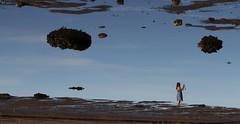Brown Clouds (Alex L'aventurier,) Tags: stirénée water river fleuve stlaurent charlevoix quebec sand plage sable femme woman sky ciel bleu blue québec canada nuages clouds beach reflet reflection