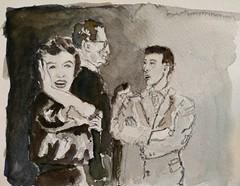 Marilyn et Arthur Miller 3 (Tom Moretto) Tags: marilyn watercolor aquarelle croquis sketch miller