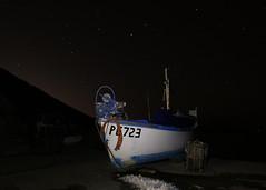 Fishing Boat Lulworth Cove (Owentheoptician) Tags: fishing boat lulworth cove dorset uk england night low light long exposure stars canon 650d tripod owen hilton bushey heath opticians painting by snow