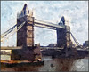 Tower Bridge. (Picture post.) Tags: painting art tower bridge river barges
