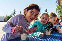 Eating Ice Cream (Kevin MG) Tags: girl girls icecream young youth cute pretty little adolescent adorable smiles funny school schoolgirls treat dessert eating bs3 co no1