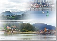 MIS PASEOS POR LA BAHIA (Angelines3) Tags: bahia santander agua montañas edificios collage