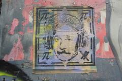 street art (duncan) Tags: graffiti streetart einstein alberteinstein stencil