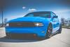 2013 Headlight Swap | Spring 2018 (jackseyeview) Tags: grabber blue mustang gt 50 bagged slammed coilovers velgen wheels vmb8 airlift performance low life stang s19