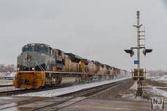 UP 1989 (Nathan Jurgensen) Tags: union pacific north platte nebraska kearney sub snow winter april railfan railroad railway train emd electromotivediesel riogrande drgw heritageunit 1989