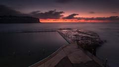 Bilgola Sunrise 1 (RoosterMan64) Tags: australia bilgolabeach clouds landscape longexposure nsw rockpool seascaspe sunrise