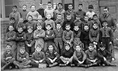 Class photo (theirhistory) Tags: children boys kids class form school teacher jacket coat shoes wellies boots