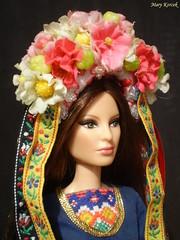 On village (Mary (Mária)) Tags: barbie barbiebasic toys doll dollphotography folk headshot headband flower flowerheadband slovakia azchallenge challenge louboutin village dollphotographer dollcollector dollsoftheworld handmade marykorcek