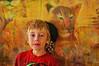 The Lion Boy (jta1950) Tags: kid child enfant children portrait person people boy garcon little young painterly lion cat