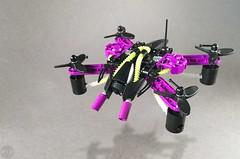 Drone Slizer: Electro (-Disty-) Tags: drone lego slizer throwbot throwbots quadcopter electro energy
