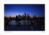 skyline (ekkiPics) Tags: city frankfurt skyline longexposure sundown bridge main river nightshot